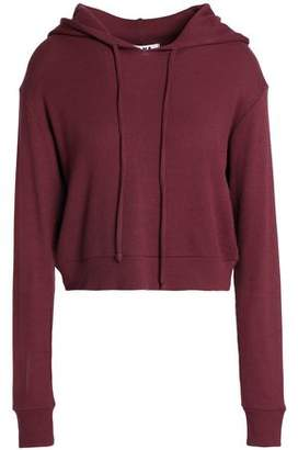LnA Cropped Thermal Stretch-Modal Jersey Hoodie