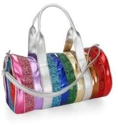 Bari Lynn Rainbow Stripe Duffel Bag