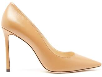 Jimmy Choo Romy 100 Leather Pumps - Womens - Camel
