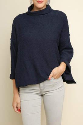 Umgee USA Mock-Neck Oversized Sweater