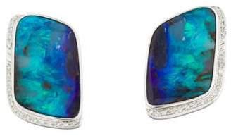 18K Opal & Diamond Earrings