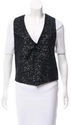 Zadig & Voltaire Sequiend Button-Up Vest w/ Tags
