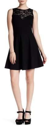 Soprano Lace Inset Skater Dress