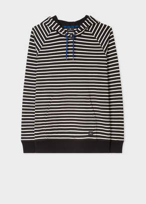 Paul Smith Men's Black Stripe Organic-Cotton Hoodie