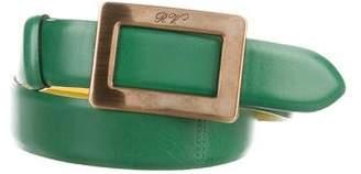 Roger Vivier Belle Vivier Gold-Tone Buckle Belt w/ Tags