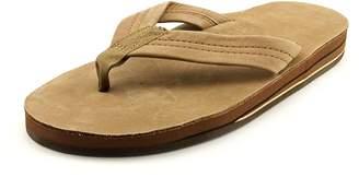 Rainbow Sandals Double Layer Classic Mens 8.5 Brown Leather Flip Flops Sandals Shoes