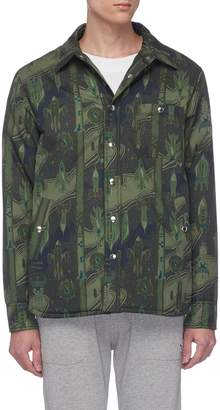 MAISON KITSUNÉ 'Dream Amplifier' print twill shirt jacket