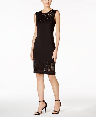 Calvin Klein Laser-Cut Sheath Dress $134 thestylecure.com