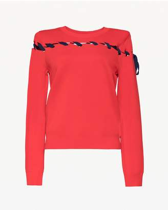 Juicy Couture Lace Up Pullover Sweater