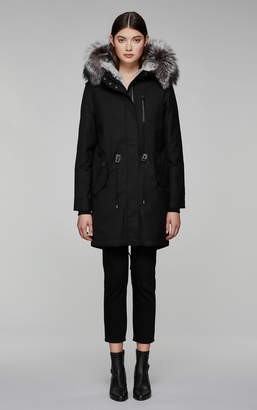 Mackage RENA-X down filled twill parka with fur-lined hood
