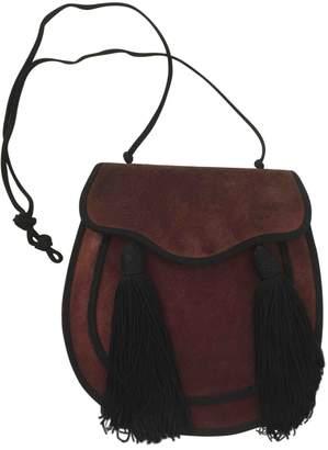 Saint Laurent Vintage Burgundy Suede Handbag