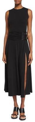 Michael Kors Sleeveless Maxi Slide Dress, Black $1,450 thestylecure.com