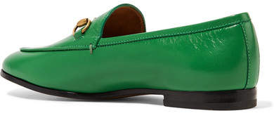 c0c1d0170ef Gucci - Jordaan Horsebit-detailed Leather Loafers - Green detail image