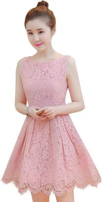 Drasawee Juniors Elegant A Line Lace Casual Homecoming Prom Cocktail Party Dress S