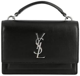 Saint Laurent Mini Bag Sunset Monogram Chain Wallet Bag In Genuine Leather