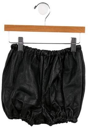 Loud Apparel Girls' Perforated Leather Shorts w/ Tags
