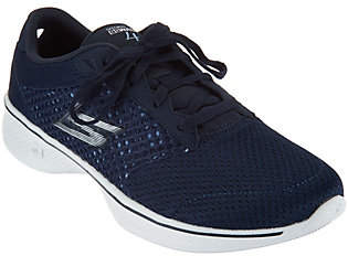 Skechers GOwalk 4 Knit Lace-up Sneakers -Exceed