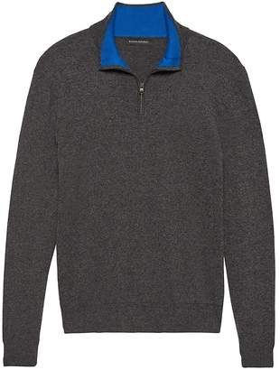 Banana Republic Cotton Cashmere Half-Zip Sweater
