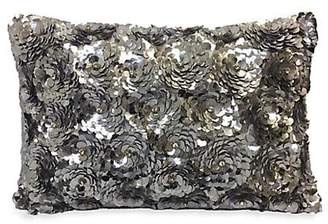 Callisto Home Hand Embroidered Sequin Petal Pillow