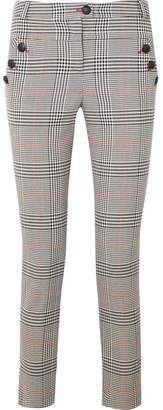 Veronica Beard Farrow Checked Crepe Skinny Pants - Gray