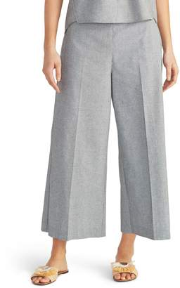 Rachel Roy Collection Check Crop Wide Leg Pants