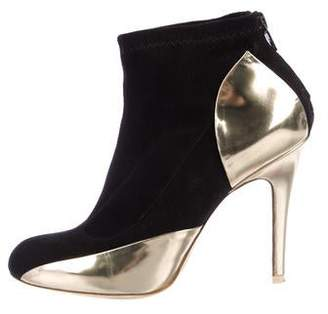 Maison Margiela Suede Metallic Trim Booties