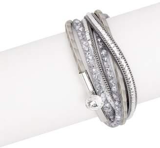 Saachi Disco Double Wrap Leather Bracelet