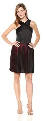 Armani Exchange A|X Women's Sleeveless Criss-Cross Pleated Dress