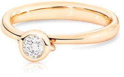 Tamara Comolli Bouton Rose Gold Diamond Solitaire Bezel Ring, Size 7/54