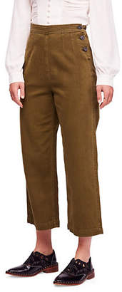 Free People Clean Mod Utility Cotton Cropped Pants