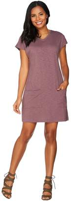 Logo By Lori Goldstein LOGO Lounge by Lori Goldstein Cotton Slub Short Sleeve Dress