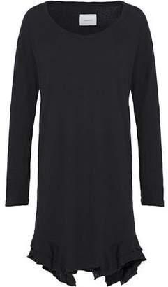 Current/Elliott Frayed Ruffled Slub Cotton-Jersey Dress