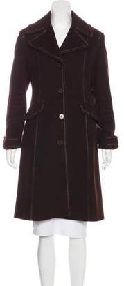 DKNY Wool Long Coat