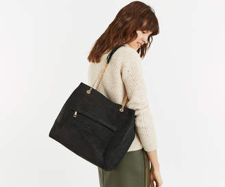 Oasis SUEDE CHAIN HANDLE TOTE