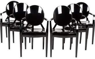 Kartell Philippe Stark Set of 6 Louis Ghost Armchairs