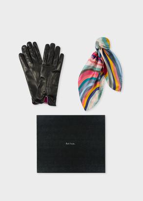 Paul Smith Women's 'Swirl' Gloves And Neckerchief Box Set