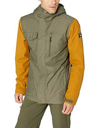 Quiksilver Men's Mission 3 in 1 Ski Snowboard Jacket with Bonded Fleece
