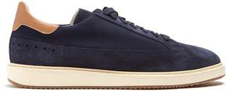 Brunello Cucinelli Canvas and suede low-top trainers