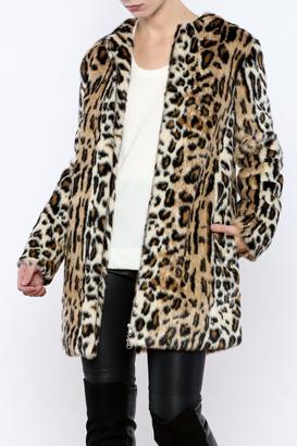 Cupcakes & Cashmere Elvina Leopard Coat $175 thestylecure.com
