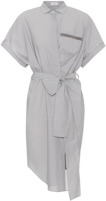 Brunello Cucinelli Embellished cotton-blend shirt