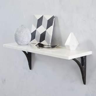 west elm Marble Shelf + Modern Bracket