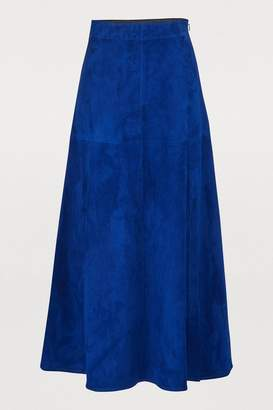847f5b8ddd Mid-length Leather Skirts - ShopStyle UK
