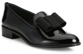 Stuart Weitzman Atabow Patent Leather Loafers $425 thestylecure.com