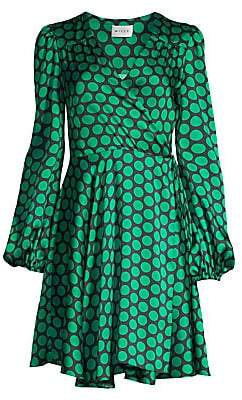 Milly Women's Siena Dotted Wrap Dress