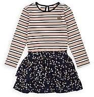 Scotch R'Belle Kids' Striped & Star-Print Long-Sleeve Dress