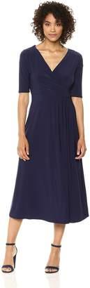Chaus Women's Laura Elbow Sleeve Wrap Dress