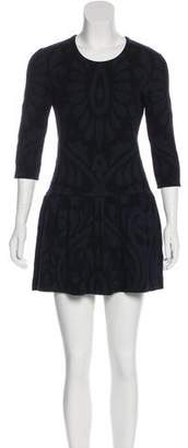 Burberry Silk & Cashmere-Blend Mini Dress