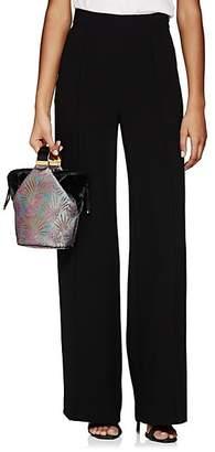 Lisa Perry Women's Crepe Wide-Leg Trousers - Black