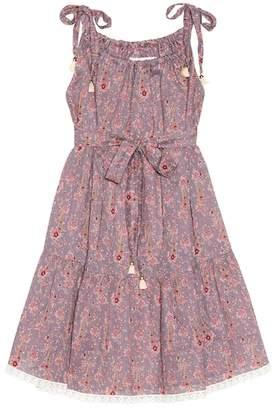Zimmermann Kids Juniper Paisley Tie cotton dress