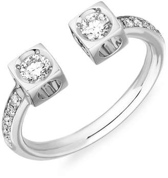 Dinh Van Le Cube Diamond 18K White Gold Ring